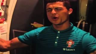 Cristiano Ronaldo - Singing Rihanna - Stay | Funny On Airplane