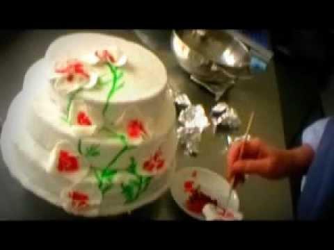 Hochzeitstorte Selbst Dekorieren Weddingcake Zuckerorchideen Youtube