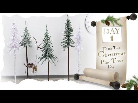 Pine Tree  5 Ft DIY / Day 1 /  Dollar Tree Christmas DIY / Christmas Prop