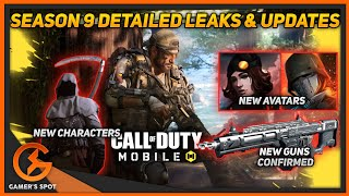 SEASON 9 NEW DETAILED LEAKS VIDEO | NEW CHRAMS, CHARACTERS, GUNS | NEW UPDATES | CALL OF DUTY MOBILE