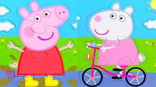 Пеппа и Сьюзи - лучшие друзья! Собираем пазлы для малышей | Merry Nika