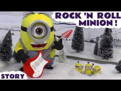 Funny Minions Rock N Roll Stuart with Thomas The Tank Engine Story Toy Unboxing Thinkway Toys thumbnail
