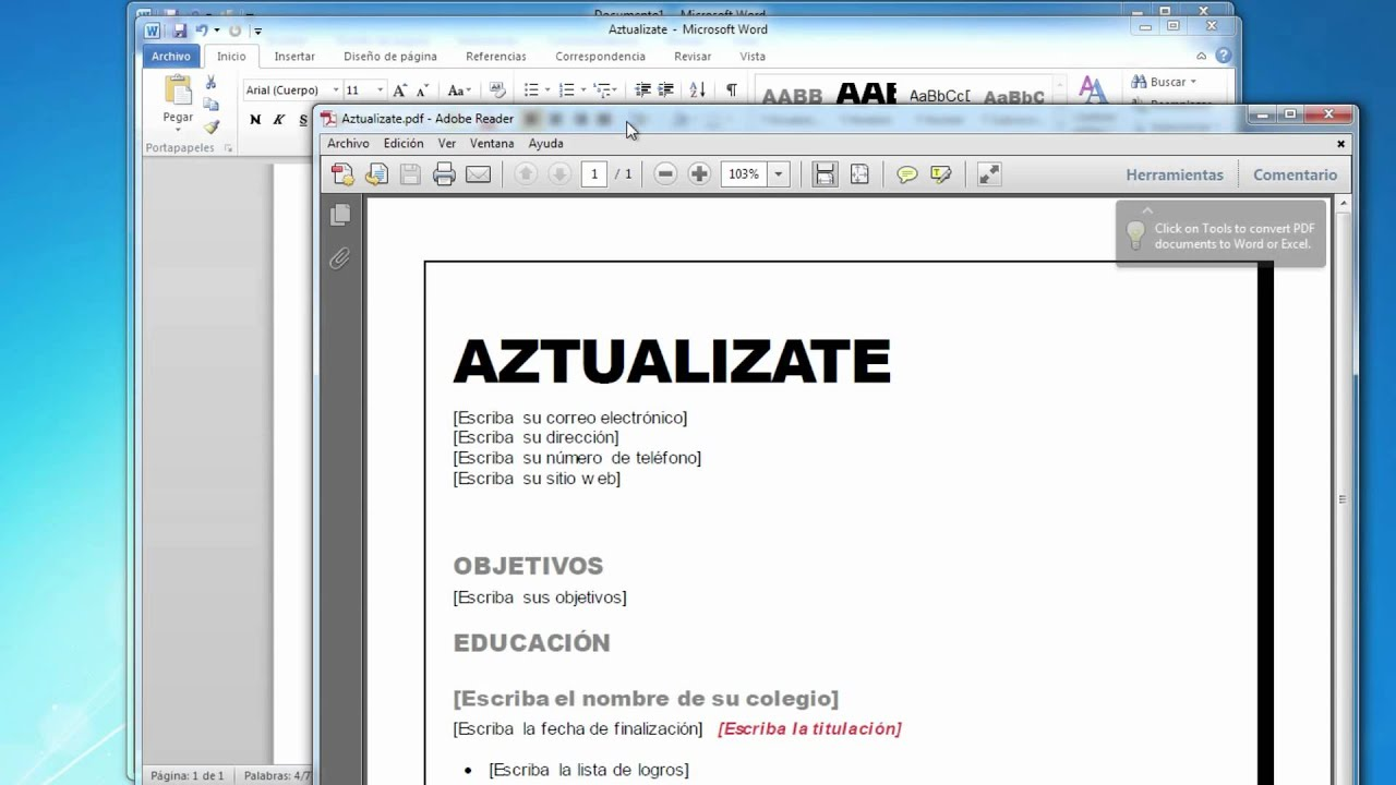 6.Word 2010: Crear documentos con plantillas - YouTube