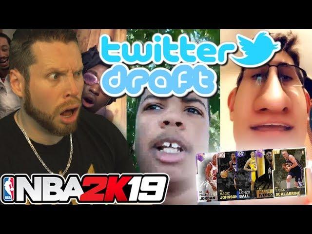NBA 2K19 Twitter Draft