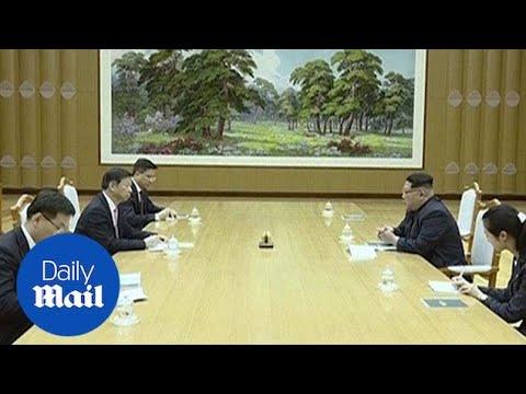 Kim Jong Un meets senior Chinese diplomat in Pyongyang - Daily Mail
