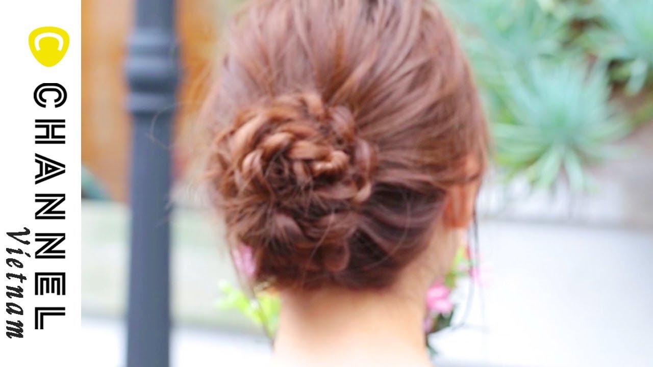 Búi tóc hình bông hoa