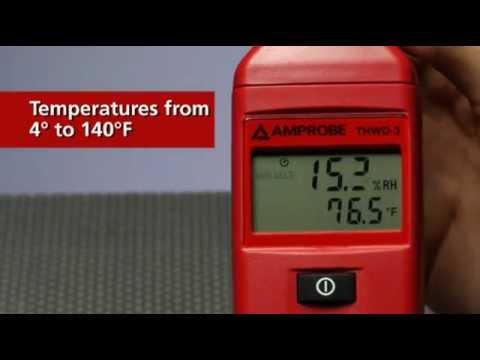 Amprobe THWD-3 Relative Humidity and Temperature Meter | Instrumart
