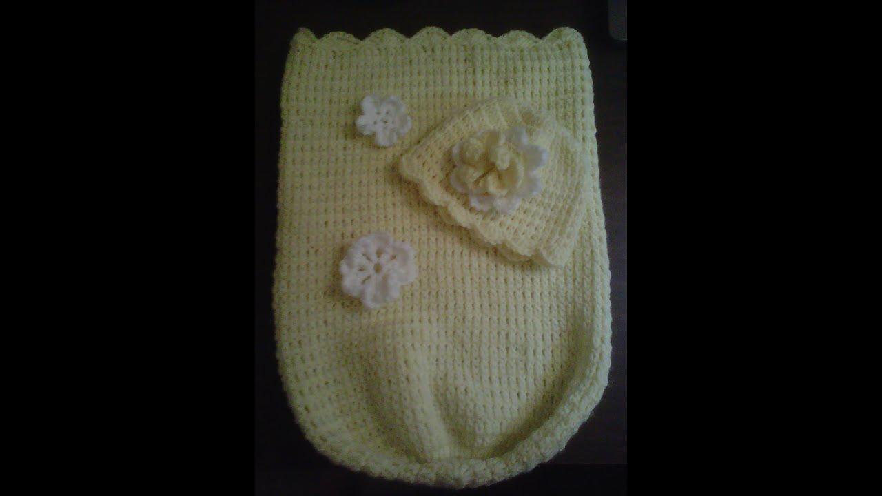 How To Crochetbabycocoon Easy Level Cocoon De Bebe En