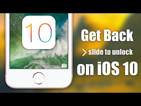 How to get swipe animations on iphone unlock without