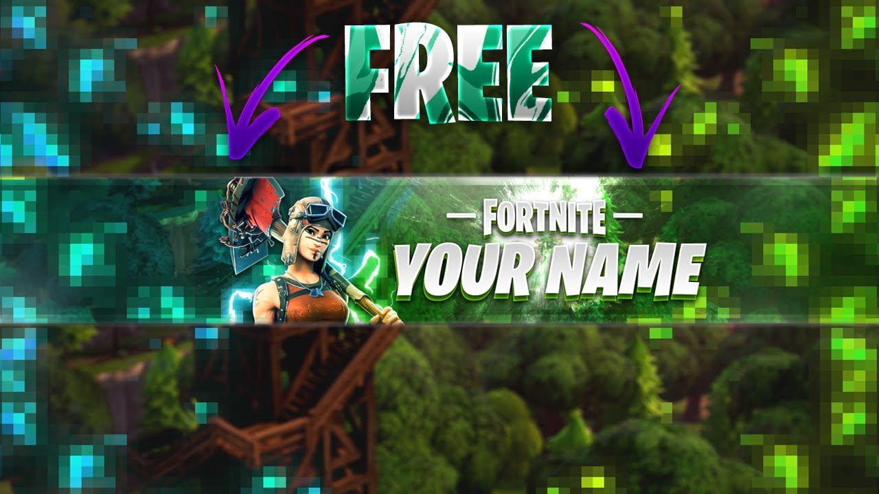 Green Fortnite Youtube Banner | Fortnite Hacker Flying