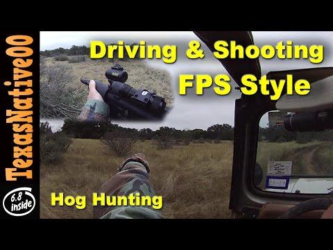 Jeep Hog Hunt - Driving And Shooting