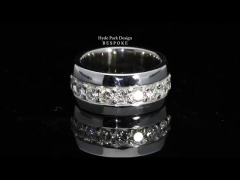 DIAMOND Set Platinum Wedding band