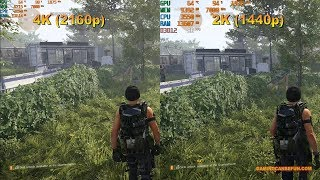 THE DIVISION 2 BENCHMARKS MAX SETTINGS 2K and 4K (RTX 2080 Ti and TR 2950X)