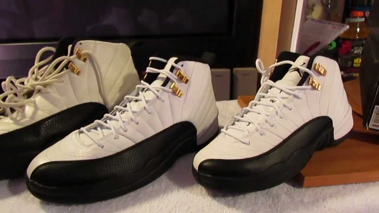 sneakers for cheap ca625 501d9 Jordan 12 Taxi 1996 OG Retro 2013 size 10 and GS 7Y Comparison