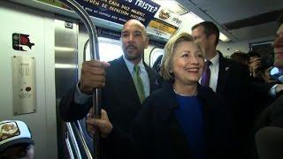 هيلاري كلينتون تفاجئ ركاب مترو أنفاق نيويورك