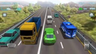 Araba oyunu, yeşil araba ile tır üzerinde gidiyoruz - 91