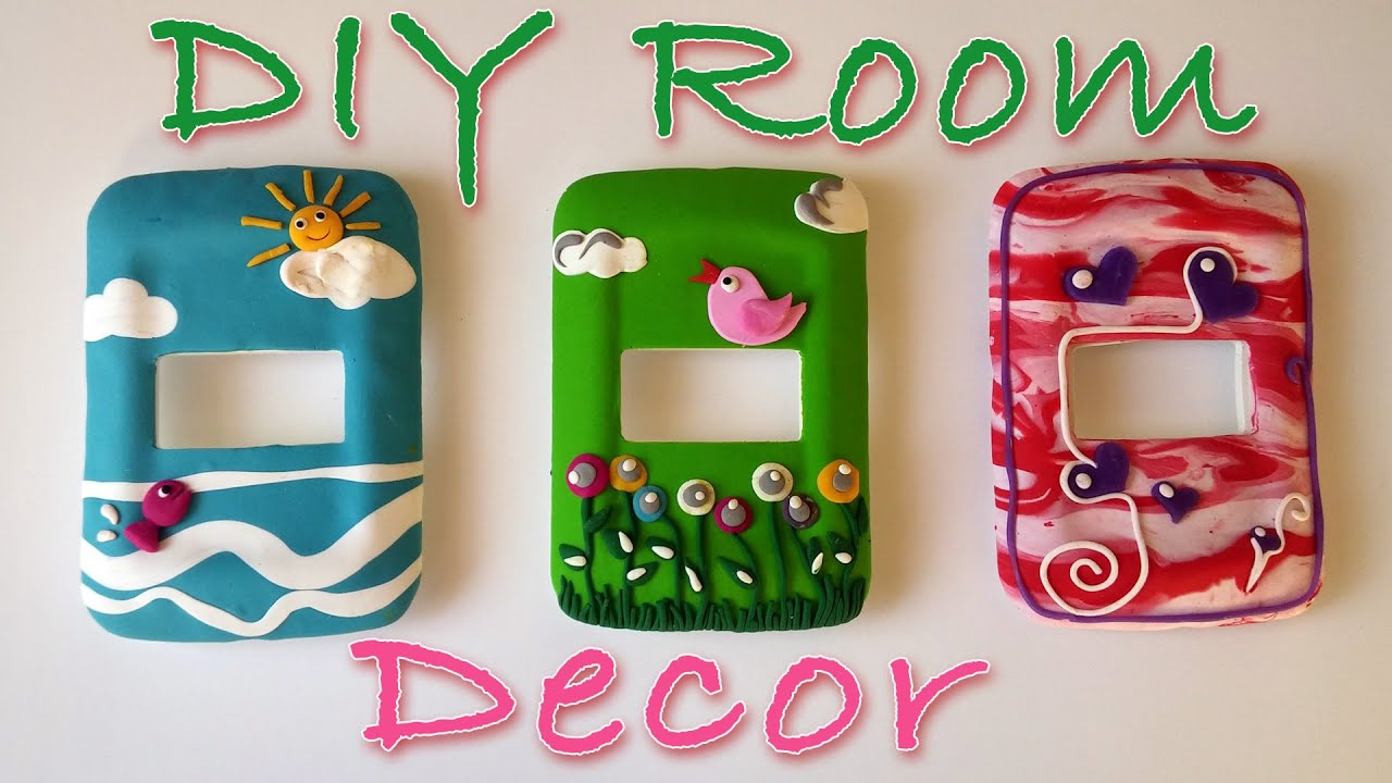 Diy crafts how to decorate a light switch cover ana for Manualidades de decoracion