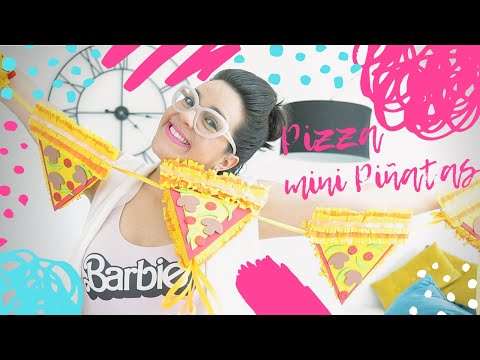 DIY 🍕Pizza 🍕 Mini Piñata & Gardland for Pizza Lovers and Pizza Parties!