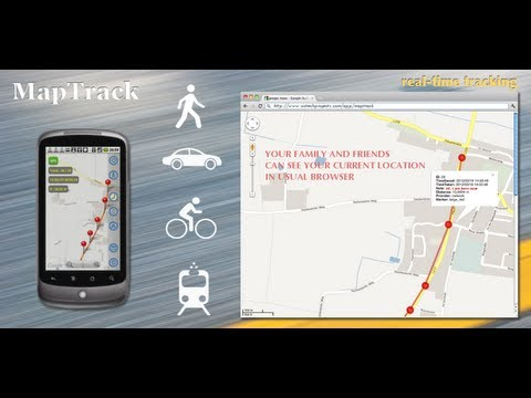MapTrack: real time tracking on Google Maps in a browser using Track on
