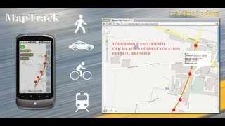 MapTrack: real time tracking on Google Maps  in a browser using Track Viewer sharing option