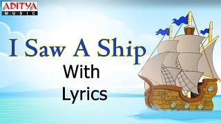 I Saw a Ship with Lyrics    Popular English Nursery Rhymes for Kids