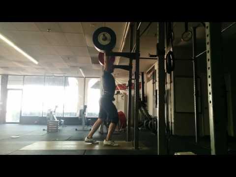 Willie McLendon 170kg Jerk Recovery
