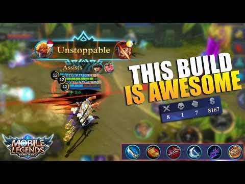 Trying Top Global Items Build – Rockstar Sun Skin Review and Gameplay (Mobile Legends)
