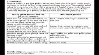 6  Nutrition Basics Part 6 - Carbohydrates - Grain Products