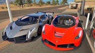 Forza Horizon 3 Online - Lamborghini Veneno & Ferrari LaFerrari