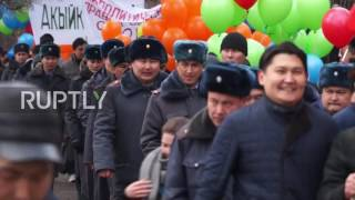 Kyrgyzstan  Protesters detained as authorised 'political rights' march strays onto the street