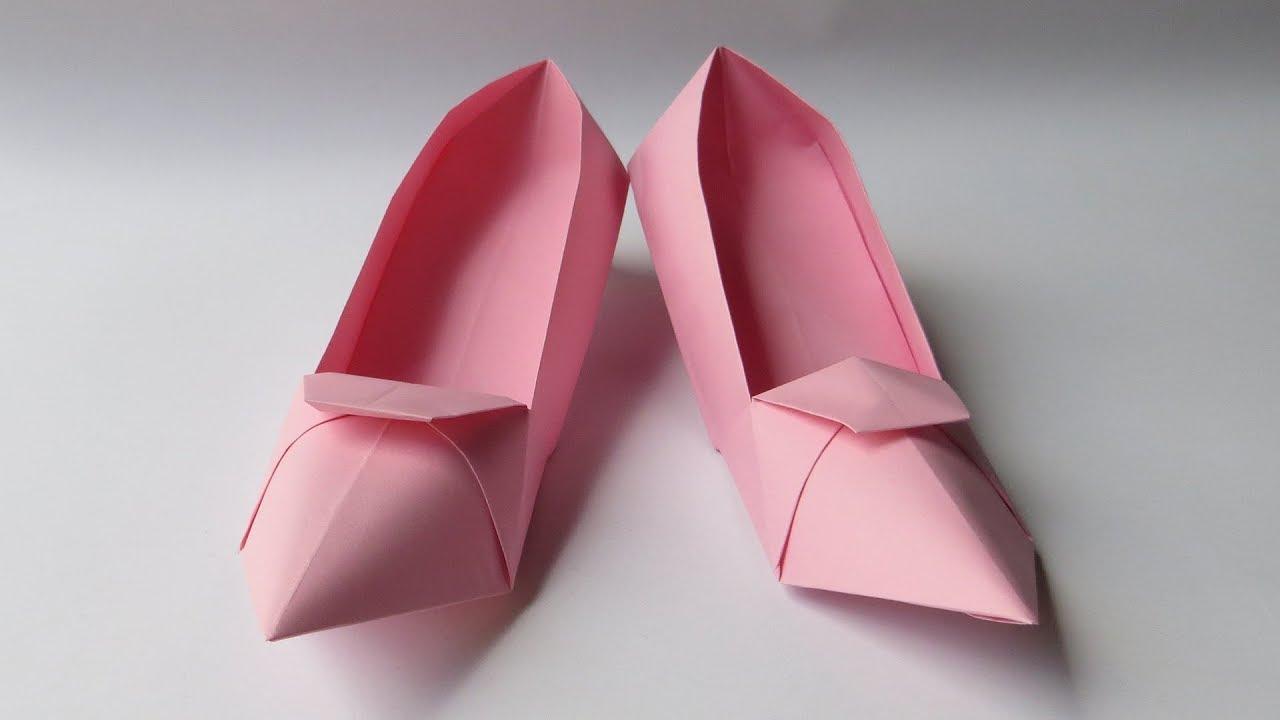 Cách Gấp đôi Giày Cao Gót Thời Trang đơn giãn dễ làm l 24h Khéo Tay Chanel l