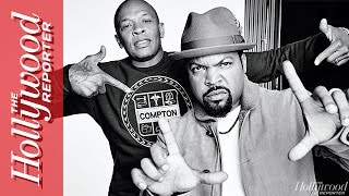 Dr. Dre and Ice Cube Talk 'Straight Outta Compton' with Cast