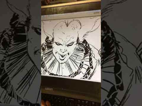 Live Drawing of Stephen Kings' Pennywise Clown