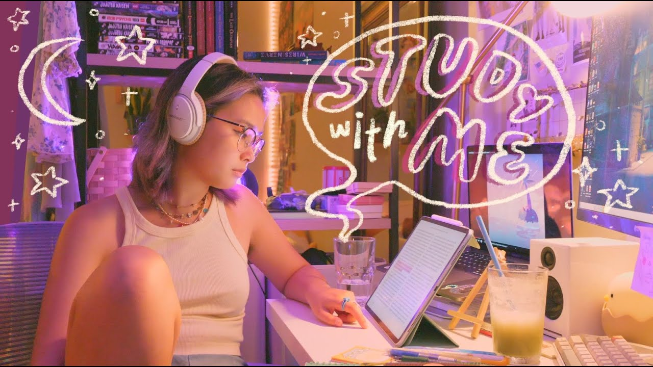 Download study with me 🌙 summer college classes + reviewing chinese