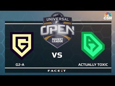 G2-A vs ACTUALLY TOXIC - Universal Open Rocket League