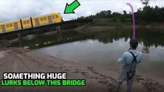 SOMETHING HUGE LURKS BELOW THIS BRIDGE (RARE)