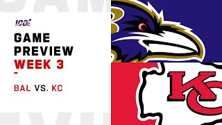 Baltimore Ravens vs. Kansas City Chiefs Week 3 NFL Game Preview