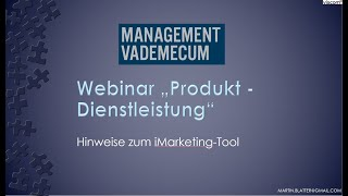 Webinar Produkt - Dienstleistung