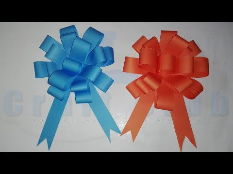 DIY Easy Paper Bow Gift Wrap | How to Make Ribbon Bows for Gifts | linascraftclub