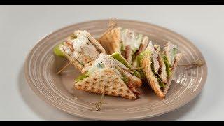 Сэндвич с курицей и не чипсами из бекона | Кухня по заявкам