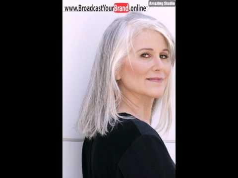 Schulter Länge Frisur für Graues Haar