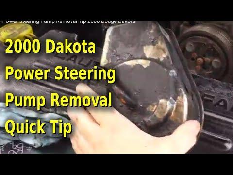 Power Steering Pump Removal Tip 2000 Dodge Dakota