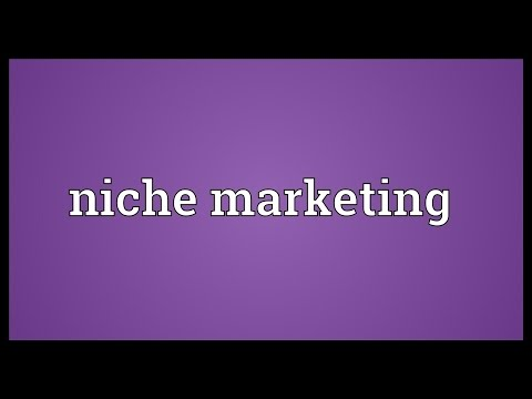 Niche marketing Meaning