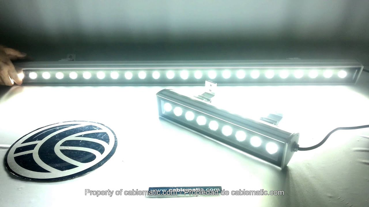 Barras led de luz blanca distribuidas por cablematic for Barra de luz led