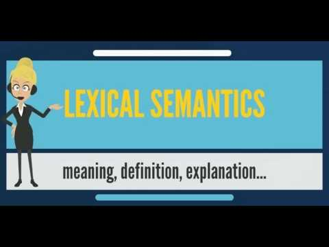 What is LEXICAL SEMANTICS? What does LEXICAL SEMANTICS mean? LEXICAL SEMANTICS meaning