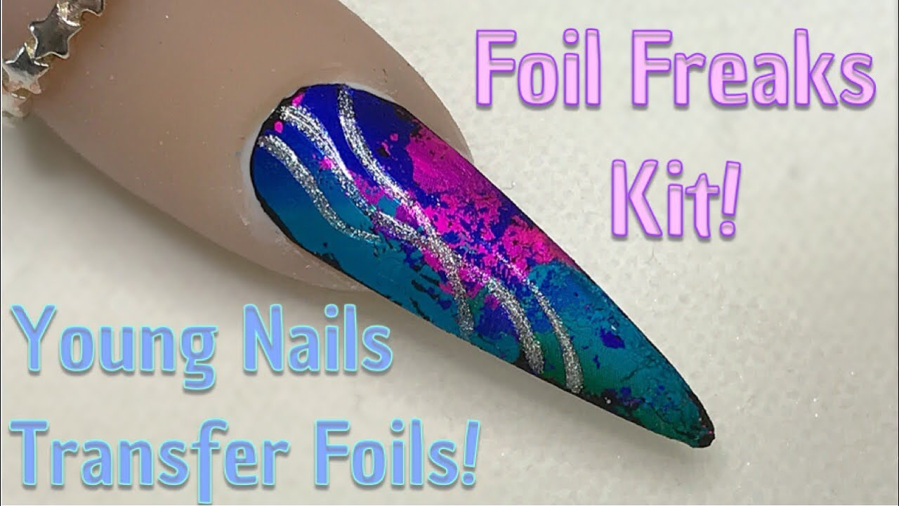 Young Nails Foil Freaks Kit | Having a play! - YouTube