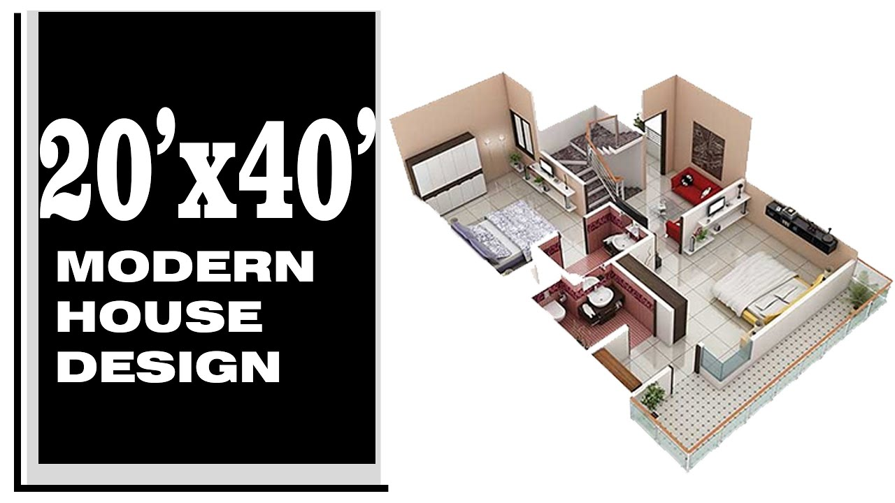 20x40 House Plan With Interior Elevation 800 Sq Ft 3 5 Marla House Plan By Concept Point Youtube