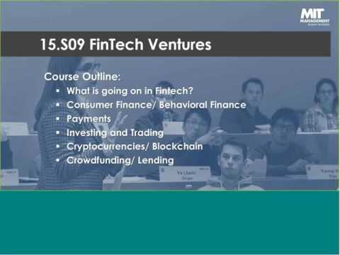 MIT Sloan School of Management -- FinTech Webinar 2016