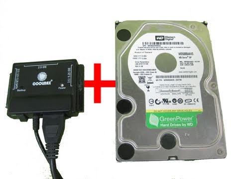 USB Hard Drive Adapter   IDE or SATA