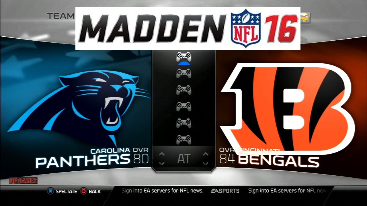 Madden NFL 16 Panthers vs Bengals Full Match Gameplay PS3 HD - YouTube